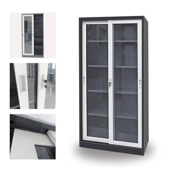 Salon Sliding Gl Door Storage Cabinet For Shampoo