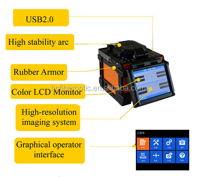 Fiber Optic Cable Joint Machine Fusion Splicer Fttx Solution