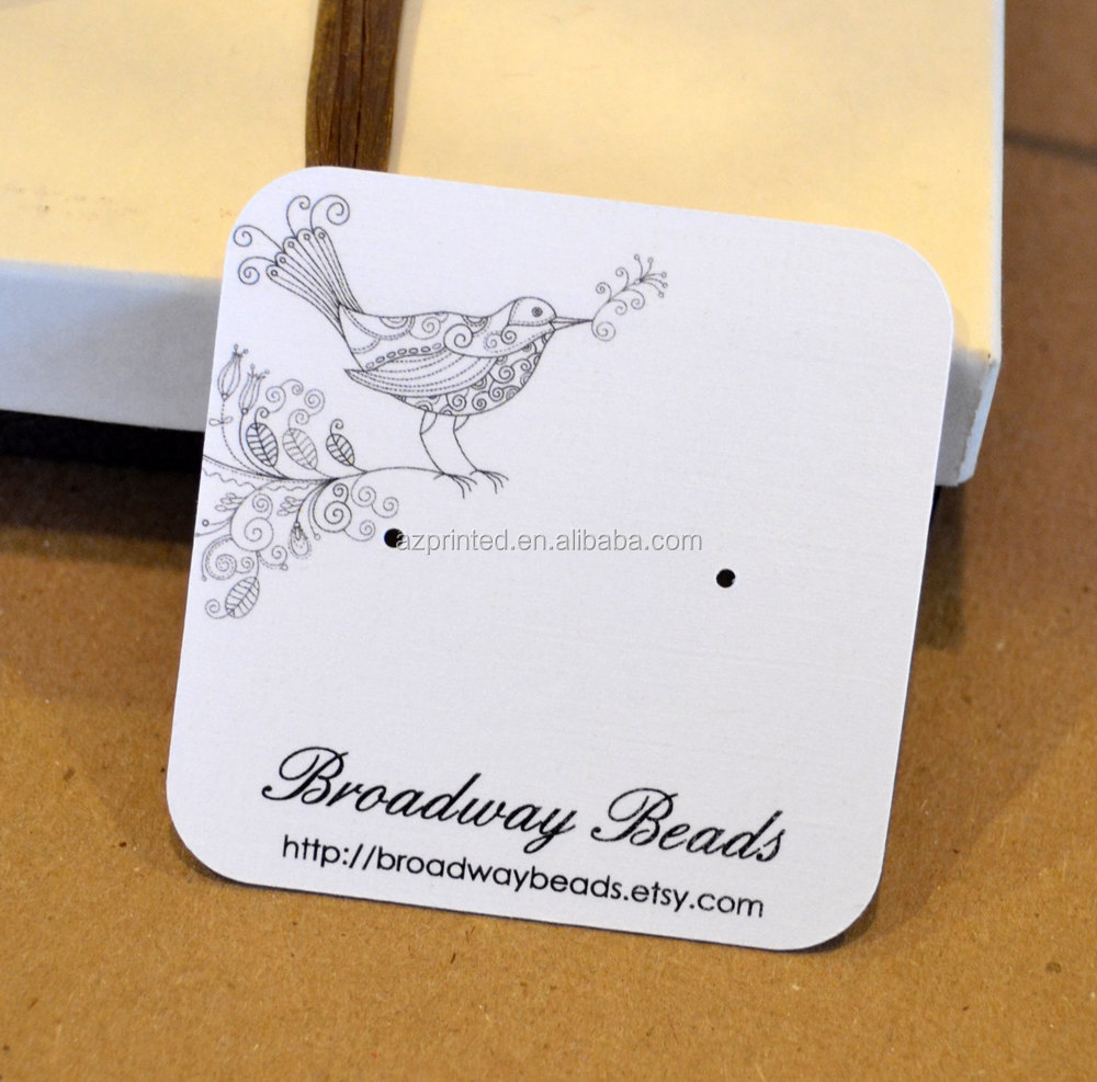 2018 New Fashion Jewelry Packaging Display Type Necklace Card