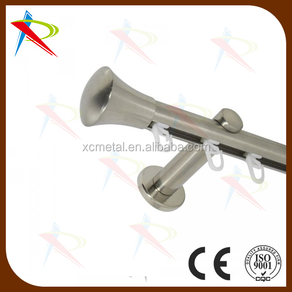 Ceiling Mounted Double Curtain Rods Curtain Brackets - Buy Double ...