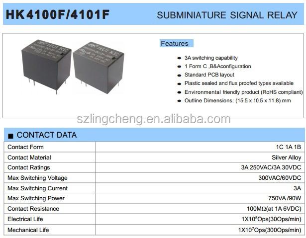 HT1oBplFGBbXXagOFbXR huike 1 form c 3a 6v signal relay hk4101f dc6v shg buy hk4101f