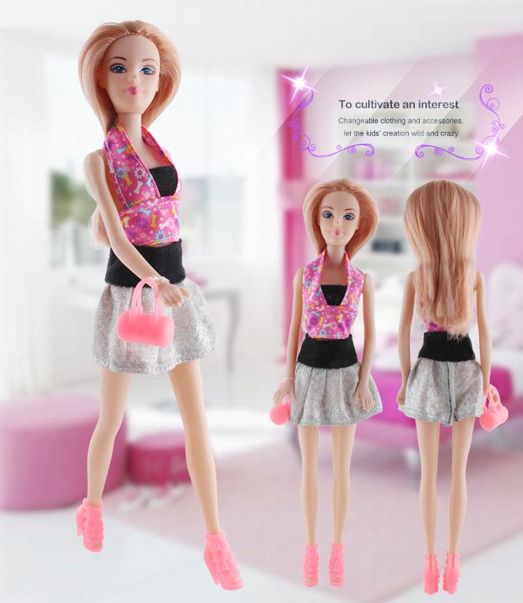 Fashion Abbie Dress Up Beauty Long Hair Doll Dress Shoes