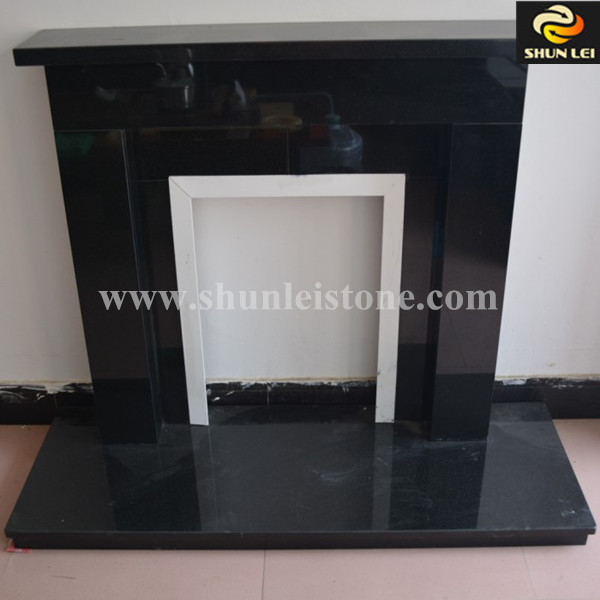 Decorative Polished Black Granite Hearth/cheap Electric Fireplace ...