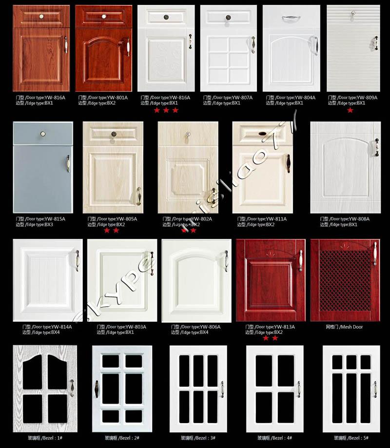 Recubierto de pvc blanco gabinetes de cocina buy for Disenos de gabinetes de cocina