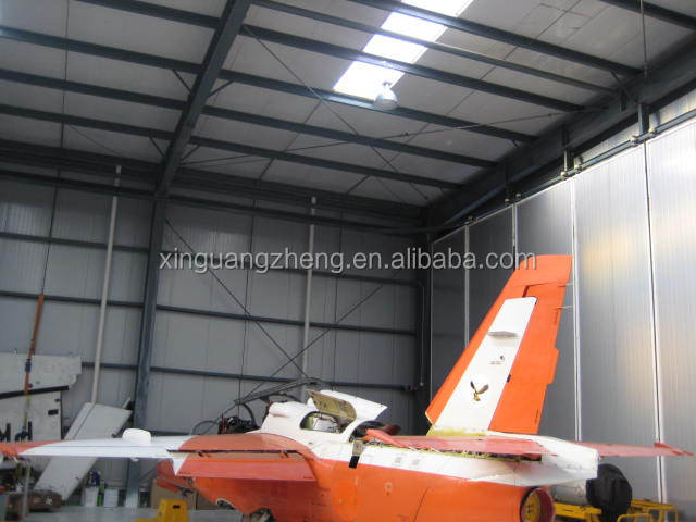 design steel structure layout aircraft hangar with professional drawing