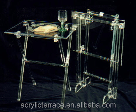 Acrylic Hotel Serving Tray On Stand HA14030101044 Acrylic Serving  Tray Vanity Tray Table