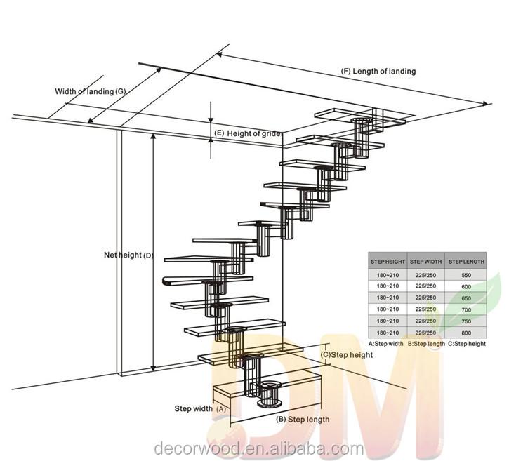 Modern hardwood stairs for home buy hardwood stairs hardwood stairs for home modern hardwood for Partes de una escalera