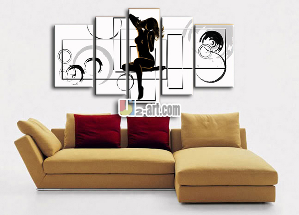 White And Black Sexy Lady Oil Painting For Bedroom Wall Buy Sexy - Painting for bedroom