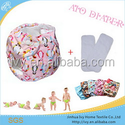 China New Printed PUL Washable Lovely World Cloth Pants Baby All In One Diaper