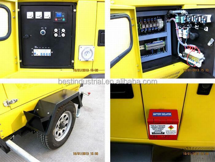 Best Selling Model!!! POWERGEN BMLT41000KH Diesel Engine Hydraulic Light Tower 4x1000W Powered by Kubota D1105BG