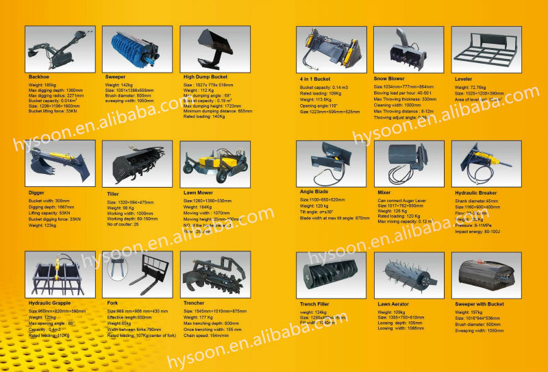 Ce Approved Quick Attach Mini Skid Steer Loader