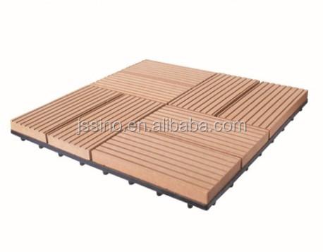 wpc interlocking swimming pool deck tiles/plastic base deck tile