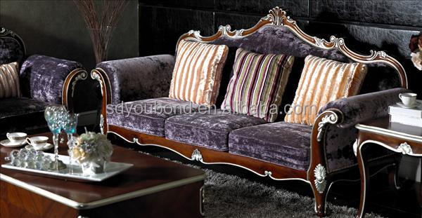 yb07 wooden hand carved king sofa set luxury italian