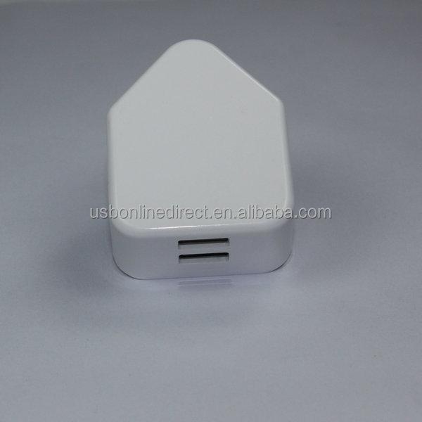 Dual Port Usb 2.1amp Uk Mains Charger Tablets/smartphones Usb Ac ...