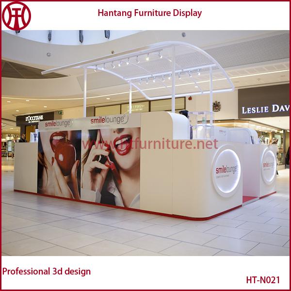 New Slat Wall Interactive Mall Cosmetic/nail Kiosk Design - Buy ...
