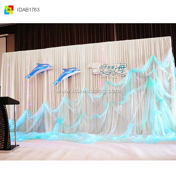 2014 church wedding ceremony hall decoration backdrop for Backdrop decoration for church