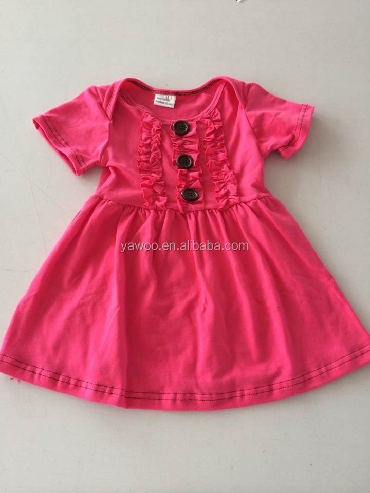 Simple Design Baby Girl Summer Dress For Girls Of 7 Years ...