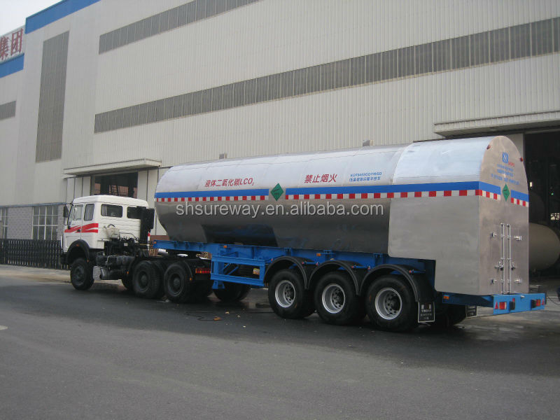 Cryogenic Liquid Carbon Dioxide Storage Tank Trailer Buy
