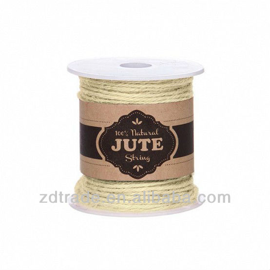 3Ply 50 Yards Multi Color 100% Natural colored Jute Twine for DIY crafts & Home Gardening, Jewelry's Essential