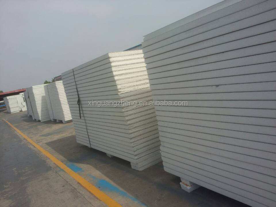 large span steel structure fire eps sandwich panel warehouse