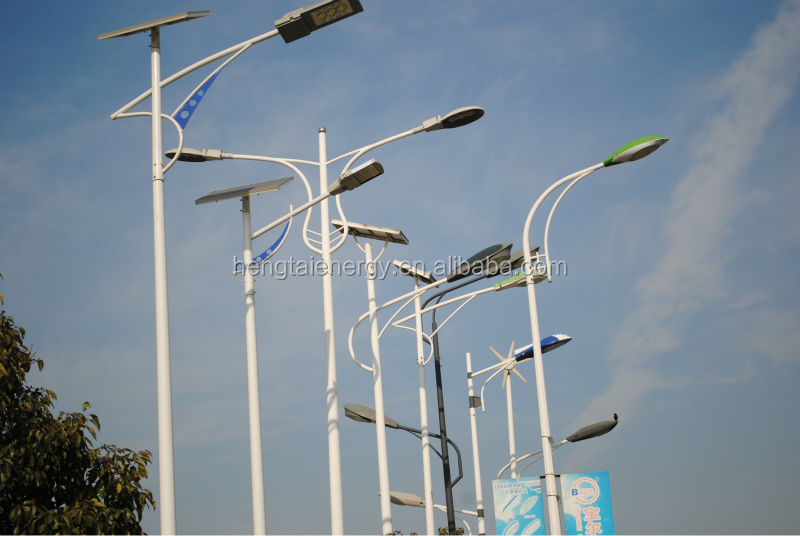 Single-arm Or Dual-arm Galvanized Street Light Pole Specifications ...