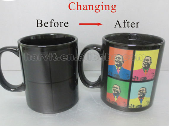 Ceramic Tea Cup Heat Sensitive Color Changing Temperature Change Magic Mug Personalized Hot Water