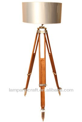 Good Quality Popular Rosewood Marine Tripod Floor Lamp With Fabric ...