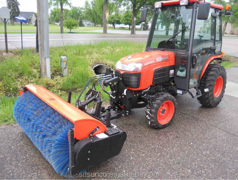 Tractor Atv Mounted Snow Sweeper Road Sweeper Broom