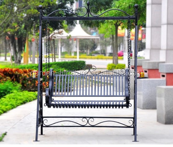 Wrought iron double lover comfortable metal garden swing chair buy swing chair garden swing - Leuningen smeedijzeren patio ...