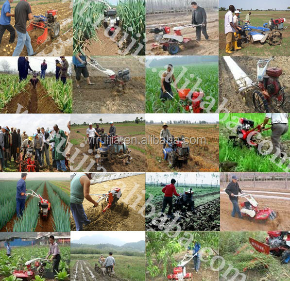 Made In China Modern Air Cooled Walk Farm Tractor With Farm Tools ...