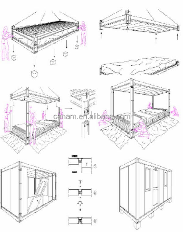 Prefab flatpack container house/ office/ villa