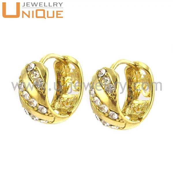 Fashion Stainless Steel Jewelry Gold Ear Tops Designs E0096