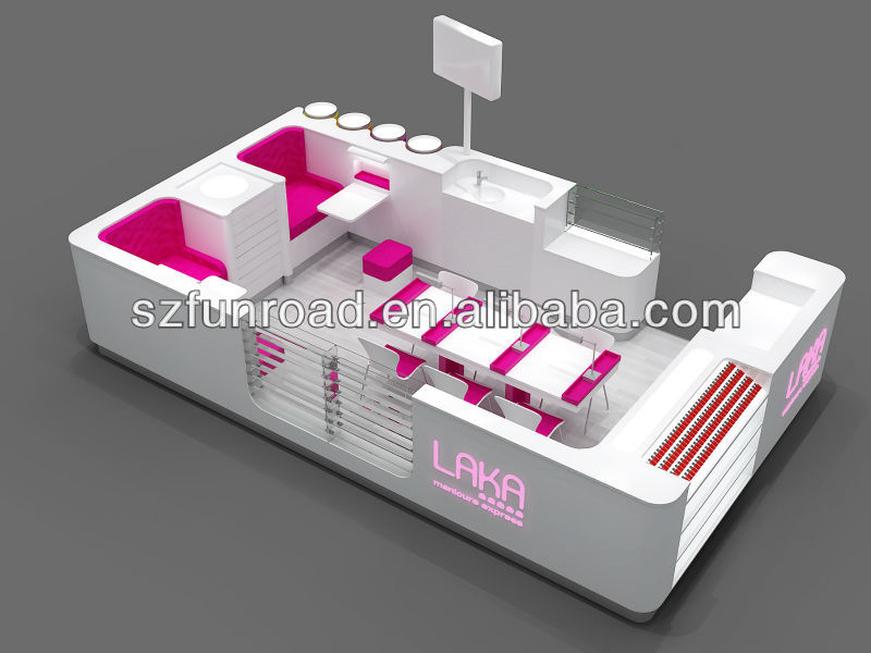 Retail Shopping Mall Nail Bar Kiosk Nail Bar Furnitures