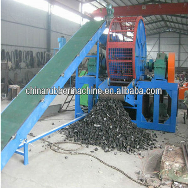 Used Tire Shredder Machine For Sale / Waste Tire Recycling Rubber ...