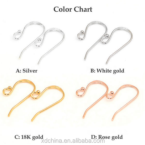 XD P026 925 sterling silver ball earring hooks shop for earrings