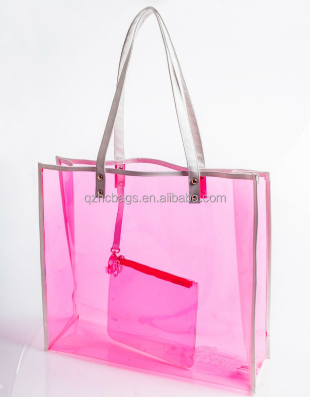 Waterproof Clear Pvc Beach Bag With Zipper Pouch (esc-hb028) - Buy ...