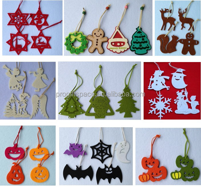 2017 new fashion hot sell handmade crafts cheap wholesale christmas decorations white felt snowflake embellishments with - Wholesale Christmas Decorations