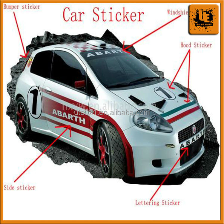 Car sticker design sample car sticker design