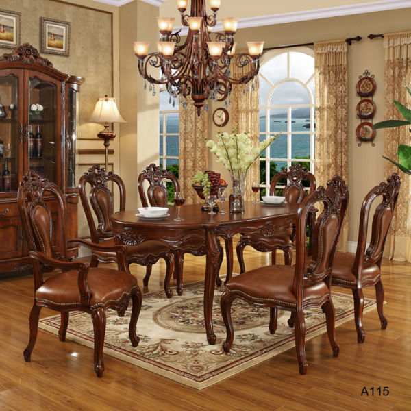 Vintage Dining Room Tables: Antique Style Solid Wood Dining Table Set Price And Chair