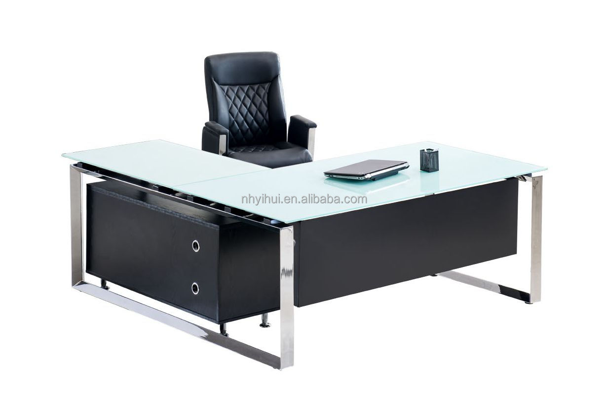 Modern Office Table With Tempered Glass Top Yh 042by Buy