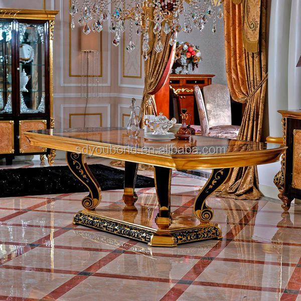 0061 italy design luxury new model foshan golden luxury for New model dining table
