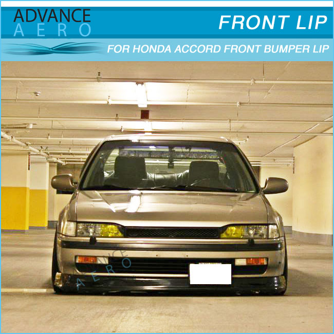 FOR 9495 HONDA ACCORD MUGEN STYLE URETHANE PU FRONT BUMPER LIP