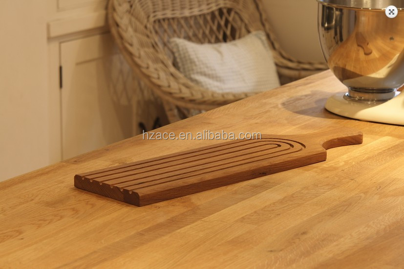 Wood Long Bread Cutting Board With Groove Oak Chopping Board Carved Line French Baguette Cutting Board Buy Wooden Bread Boardwooden Chopping
