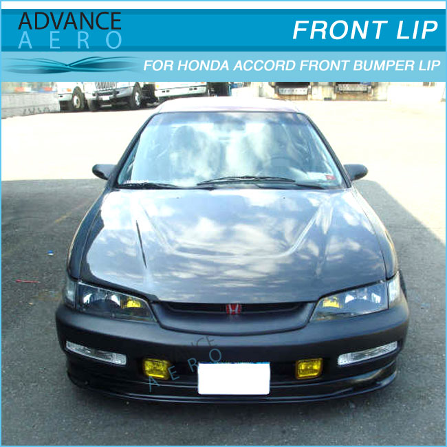 for 96 97 honda accord mugen style front bumper lip spoiler pu