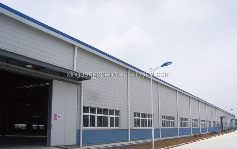 large span prefabricated industrial steel structure workshop