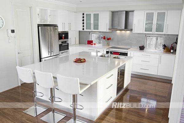 Ritz Kuchenschrank American Style Hochglanz Kuche Mobel Buy