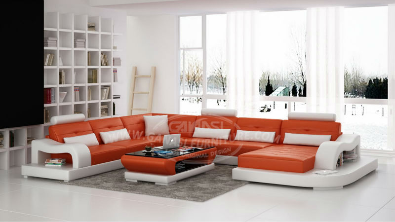 The factory leather sofa buy the factory leather sofa for Sofas modernos en l