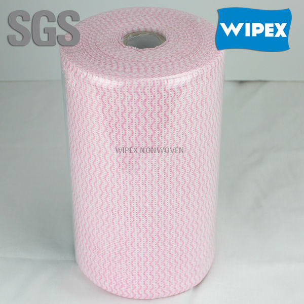 Household clean wipers super absorbent disposable non woven spunlace wipe roll