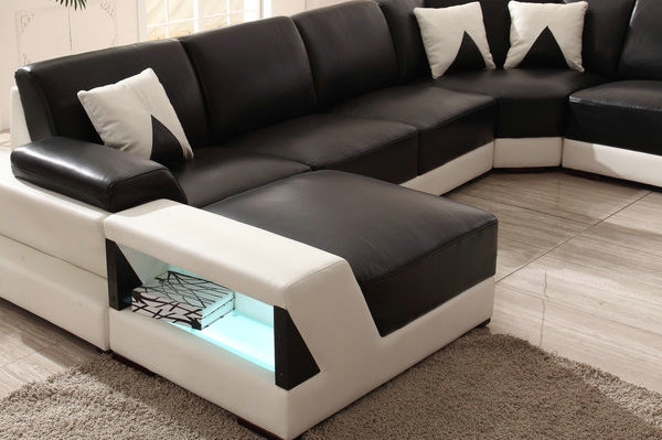 2015 NEW Sofa Design Sectional Sofa With LED Lighting AS503#