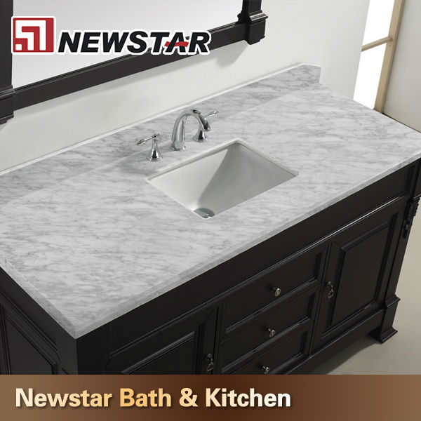 Vanity Countertops Product : Newstar stone factory make white cultured marble vanity